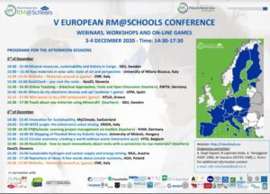 PCTO CLASSI TERZE – RM@Schools: WEBINARS, WORKSHOPS AND ON-LINE GAMES [dicembre 2020]